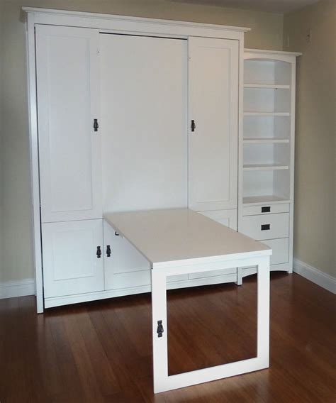 Craft Room Murphy Bed with Pull Down Table