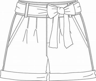 Sketch Shorts Flat Sketches Flats Template Illustration
