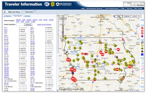 image gallery iowa dot road map