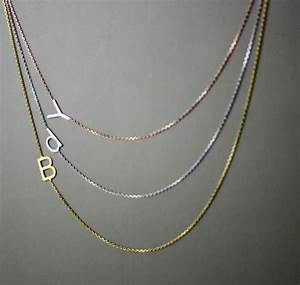 sterling silver sideways initial necklace alphabet With sideways letter necklace