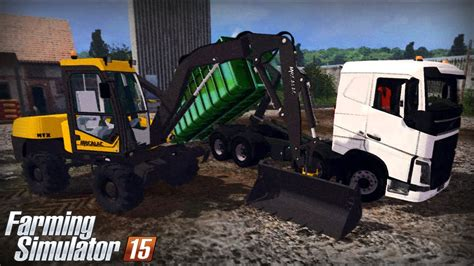 farming simulator  gameplay  volvo fh ampliroll