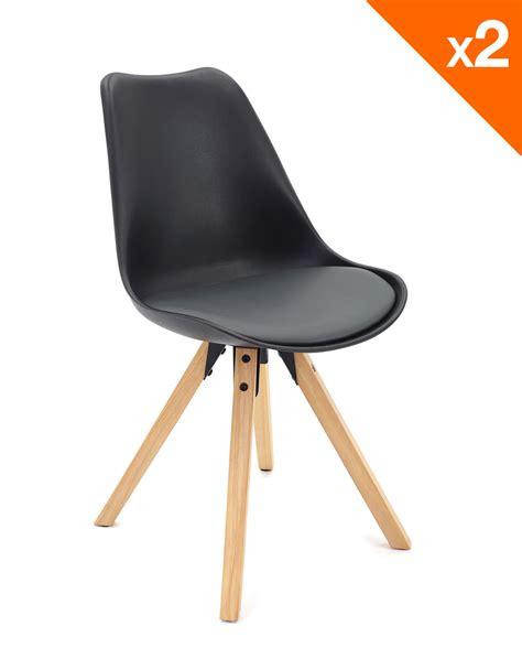 coussin chaise cuisine chaise scandinave avec coussin lot de 2 98 9 clea