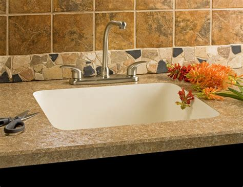 Integrated Sinks Add Luxury To Laminate Tops Kitchen