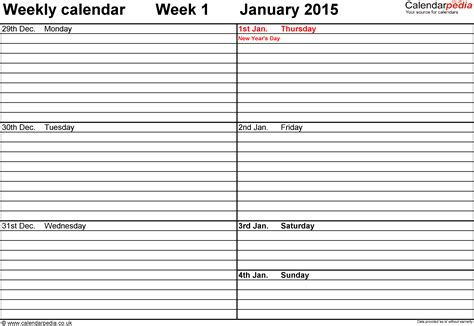 calendar templates weekly weekly calendar pdf weekly calendar template