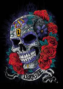 Heart Sugar Skull Art
