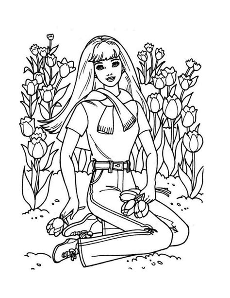 coloring pages barbie coloring pages