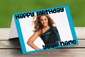 Beyonce Happy Birthday Card