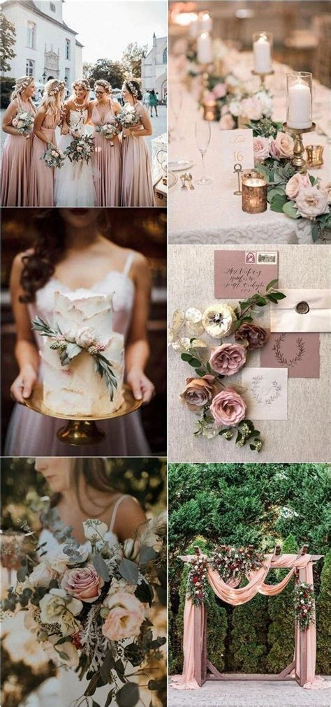 dusty rose and sage green wedding color ideas #wedding #