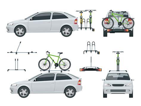 porta biciclette per auto portabiciclette o portabici per auto sul tetto o sulla