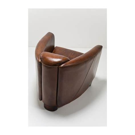 fauteuil bureau design fauteuil vintage en cuir marron cigar lounge kare design