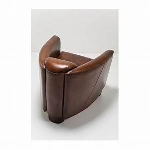 Fauteuil Cuir Marron Vintage : fauteuil vintage en cuir marron cigar lounge kare design ~ Teatrodelosmanantiales.com Idées de Décoration