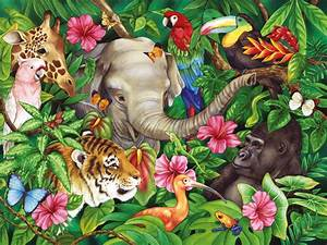Jungle Animals Two wallpapers | Jungle Animals Two stock ...