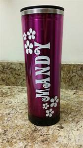 personalized custom name for water bottle or travel mug With custom water bottle decals