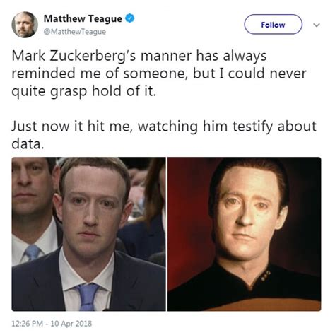 Zuckerberg Memes - twitter users compare mark zuckerberg to star trek character daily mail online