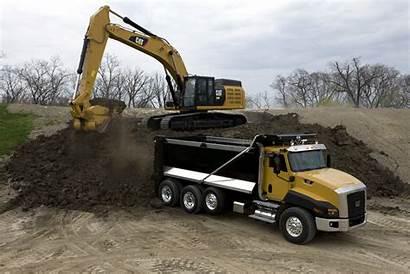Caterpillar Cat Ct660 349e Excavator Loading Truck