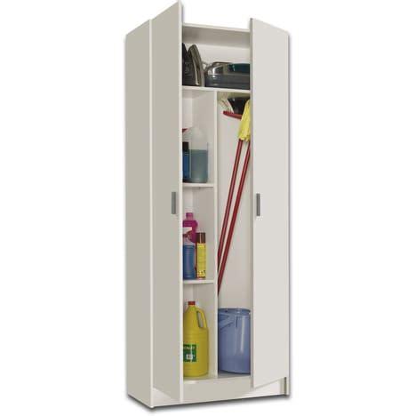 meuble de rangement cuisine pas cher armoires ménagères bilbao 2 portes special balais pas cher