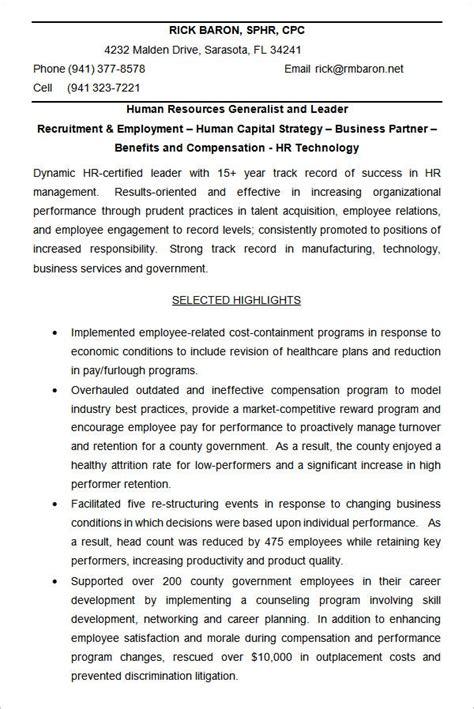 hr resume cv templates hr templates  premium