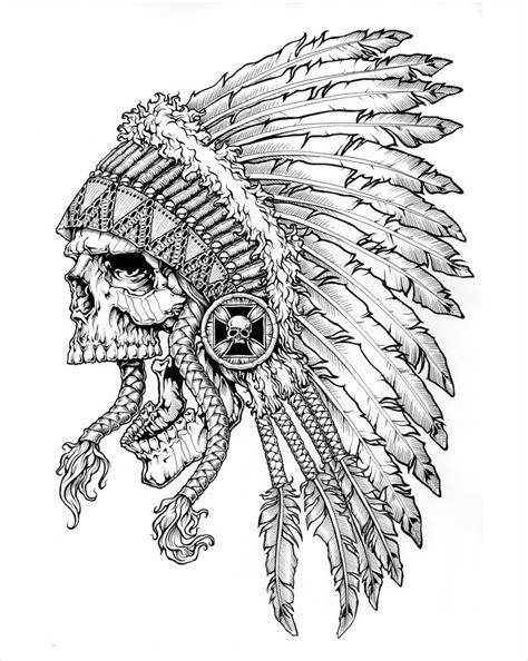 black label society   Indian skull tattoos, Skull art, Indian skull