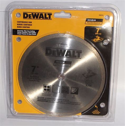 dewalt dw4791 7 quot continuous rim wet cutting saw blade high