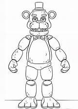 Fnaf Coloring Freddy Sheets Golden Toy Supercoloring Via sketch template