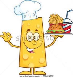 Cartoon Hamburger and French Fries