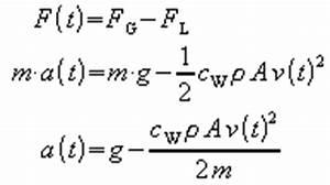 Geschwindigkeit Freien Fall Berechnen : zur berechnung der bewegung kann aber ein ~ Themetempest.com Abrechnung