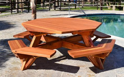 build  wooden octagon picnic table
