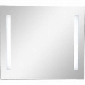 miroir lumineux eclairage integre l80 x h70 cm sensea With carrelage adhesif salle de bain avec miroir led 80