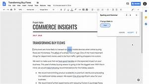 Google Docs Grammar Checking Ai Is Rolling Out