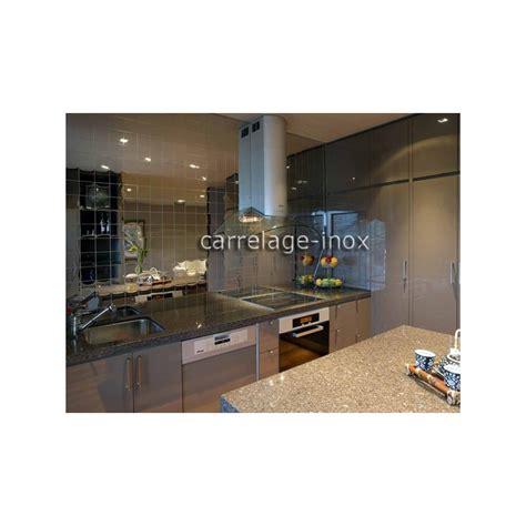 cuisine miroir carrelage inox poli miroir mosaique credence cuisine