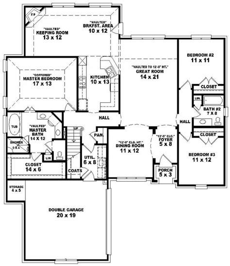 single level house plans house plans bedroom bath ranch single level bed home floor