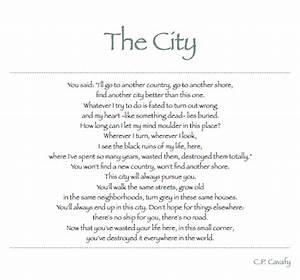 C.P. Cavafy | T... City Poetry Quotes