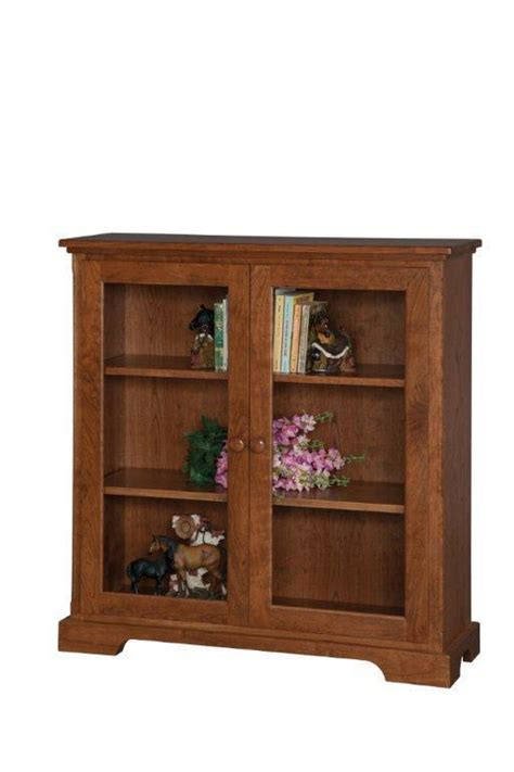 Small Glass Door Bookcase by Small Glass Door Wooden Bookcase From Dutchcrafters Amish