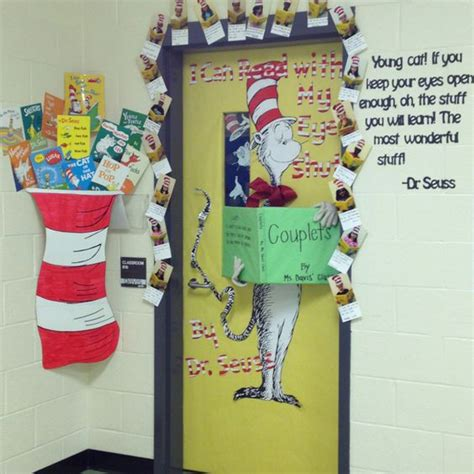 dr seuss door decorating ideas read across america week door decoration contest dr