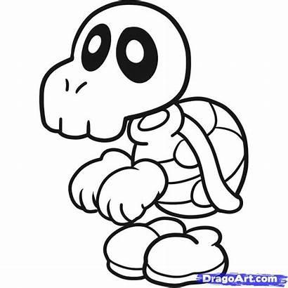 Mario Coloring Bones Dry Pages Super Paper