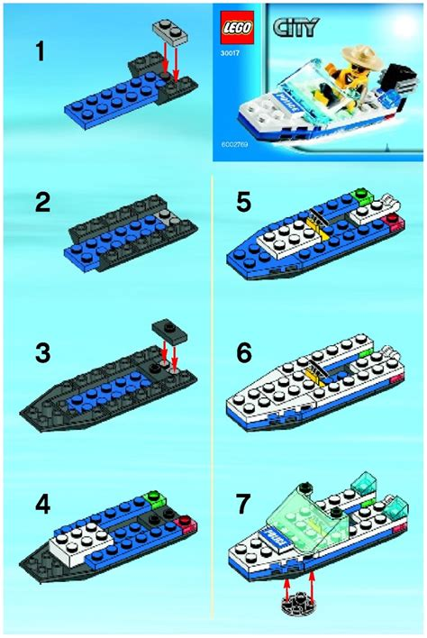 Lego Boat Step By Step by Lego Boat 30017 City