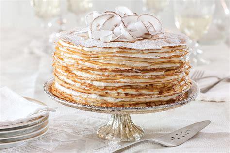 crepe cake  coconut filling victoria magazine