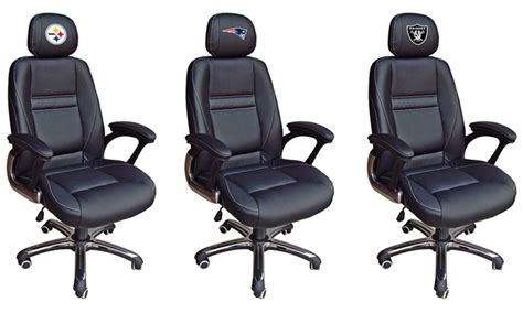 nfl coach leather office chair groupon