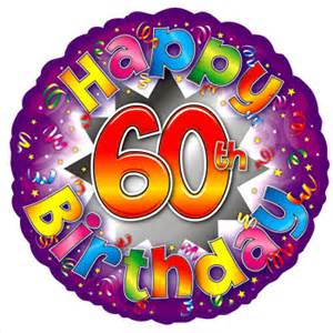 Happy 60 Birthday Clip Art