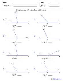 Find Missing Angles Worksheet Geometry Worksheets Angles Worksheets For Practice And Study