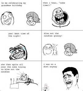 Funny Grandma Rage Comic
