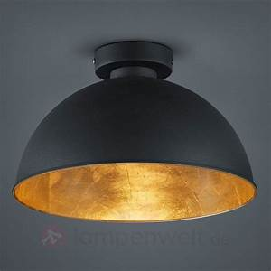 Deckenlampe Schwarz Metall : schwarz goldene metall deckenleuchte jimmy 8029093 ~ Lateststills.com Haus und Dekorationen