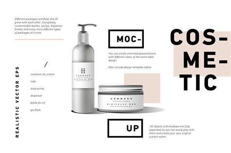 creative fashion cosmetics branding mockups psd
