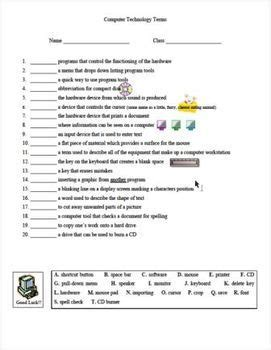 computer technology lessons with five worksheets for grade 4 computer lesson ideas 3 5