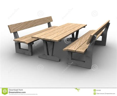 wood dinner table 3d garden furniture royalty free stock photos image 951828