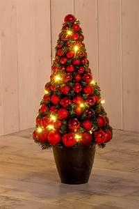 Weihnachtsbaum Mit Rosa Kugeln : christbaum mit kugeln rot 60 cm hoch led beleuchtung ~ Orissabook.com Haus und Dekorationen