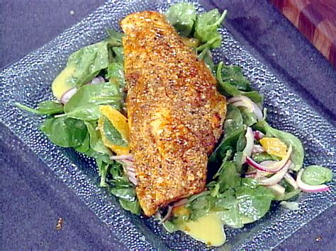 grouper recipes grilled fish food recipe gulf mexico paul salad orange network sauce paula emeril fingers fillets cooking parchment sour