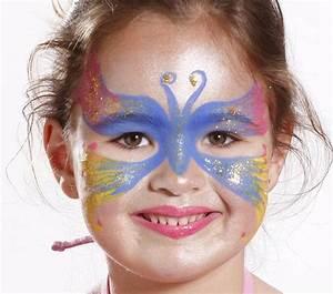 Modele Maquillage Carnaval Facile : papillon bleu grim 39 tout maquillage l 39 eau pour enfants ~ Melissatoandfro.com Idées de Décoration