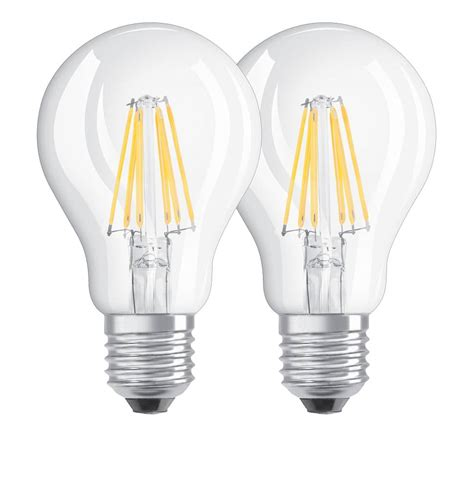 Osram Led Birnen by Doppelpack Osram E27 Led Le Filament 6w 806lm Warmweiss