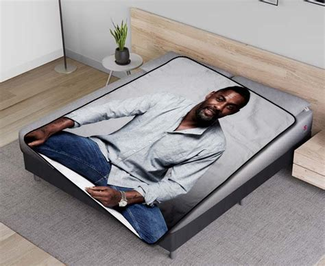 Idris Elba #03350 Fleece Blanket Quilt - Lucksome